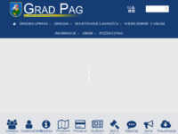 Frontpage screenshot for site: Otok Pag (http://www.pag.hr/)