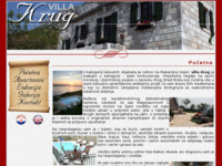 Frontpage screenshot for site: Villa Krug, Brela (http://www.villakrug.com)