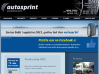 Slika naslovnice sjedišta: Autosprint d.o.o. — Pneumatik centar Peić, Požega (http://www.autosprint.hr)