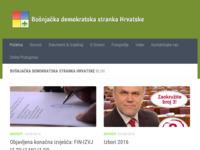 Frontpage screenshot for site: Bošnjačka Demokratska Stranka Hrvatske (http://www.bdsh.hr)