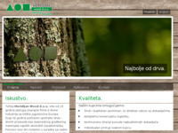 Frontpage screenshot for site: (http://www.meridijan-wood.hr)