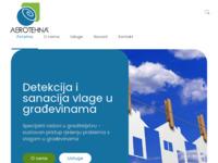 Frontpage screenshot for site: Aerotehna - Zaštita od vlage u prostoru i zidovima i sanacija poslijedica visoke vlažnosti u (http://www.aerotehna.hr)