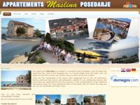 Slika naslovnice sjedišta: Apartmani Maslina - Posedarje (http://www.apartmani-posedarje-maslina.com)