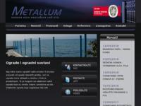 Frontpage screenshot for site: Metallum d.o.o. Pićan (http://www.metallum-zica.hr)