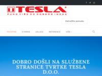 Slika naslovnice sjedišta: Tesla d.o.o. - za proizvodnju, istraživanje, trgovinu, usluge i graditeljstvo (http://www.tesla.com.hr)