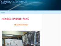 Slika naslovnice sjedišta: Kemijska čistionica Mamić (http://kemijska-cistionica-neoteks.webs.com)