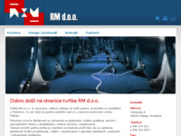 Frontpage screenshot for site: RM d.o.o. (http://www.rm-tepes.hr)