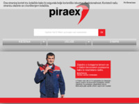 Frontpage screenshot for site: Piraex d.o.o. (http://www.piraex.hr)