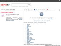 Frontpage screenshot for site: karteGradova.com - karta Splita (http://www.kartegradova.com/split)