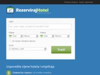 Frontpage screenshot for site: Pretražite ponude hotela po 30 booking sistemima odjednom i usporedite cijene - Rezervacija hotela (http://www.rezervirajhotel.eu)