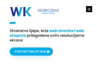 Slika naslovnice sjedišta: WebKodeks pravljenje web stranica, izrada internetskih stranica, web dizajn posao (http://www.webkodeks.com)