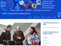 Slika naslovnice sjedišta: Hrvatsko društvo katoličkih novinara - HDKN (http://www.hdkn.hr)