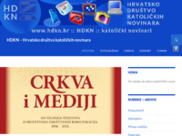 Frontpage screenshot for site: Hrvatsko društvo katoličkih novinara - HDKN (http://www.hdkn.hr)