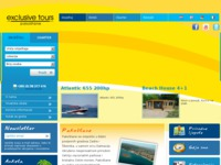 Frontpage screenshot for site: Exclusive Tours Pakoštane (http://www.exclusivetours.hr/)