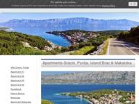 Frontpage screenshot for site: Villa Gracin Apartmani, Povlja otok Brač (http://www.apartmentspovlja.com)