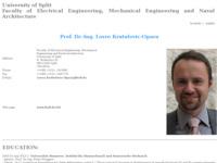 Frontpage screenshot for site: Fakultet elektrotehnike, strojarstva i brodogradnje (http://www.fesb.hr/~opara/)