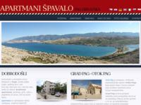 Frontpage screenshot for site: Apartmani Špavalo Pag - Apartmani Pag - otok Pag, Hrvatska (http://www.spavalopag.com/)