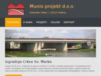 Slika naslovnice sjedišta: Munio projekt d.o.o. - za građenje (http://www.munioprojekt.hr)