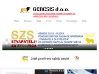 Slika naslovnice sjedišta: Genesis d.o.o. (http://www.genesis.hr/)