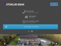 Frontpage screenshot for site: Autoklub Sisak (http://www.autoklub-sisak.hr/)