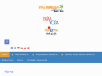 Frontpage screenshot for site: Villa Bonaca, Baška voda (http://www.villabonaca.hr)