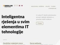 Frontpage screenshot for site: Domena.com (http://www.domenacom.hr)