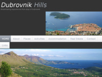 Frontpage screenshot for site: Dubrovacke Padine (http://www.dubrovnikhills.com)