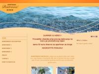 Frontpage screenshot for site: Dobrodošli na stranicu Apartmana Bistrović (http://www.apartmani-bistrovici.hr)