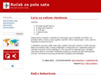 Slika naslovnice sjedišta: Ručak za pola sata (http://rucakzapolasata.wordpress.com)