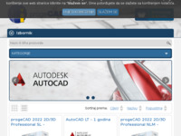 Frontpage screenshot for site: AutoCAD za 1800 kuna (http://www.progecad.com.hr)