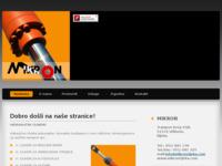 Frontpage screenshot for site: Hidraulika Rijeka (http://www.mikronrijeka.com)
