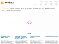 Frontpage screenshot for site: (http://molekula.hr)