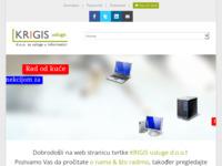 Slika naslovnice sjedišta: Krigis usluge d.o.o. za usluge u informatici (http://www.krigis.hr)