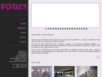 Slika naslovnice sjedišta: Forum - Gradevinstvo i marketing, projektiranje, planiranje, programiranje, dizajn (http://www.forum-zg.hr)