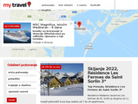 Frontpage screenshot for site: My Travel (http://www.mytravel.hr/home)