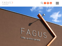 Frontpage screenshot for site: Fagus d.o.o. (http://www.fagus.hr)