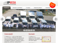 Frontpage screenshot for site: Distribucija letaka, IP media (http://www.ipmedia.hr)