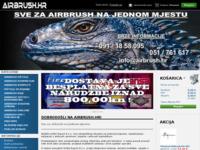 Frontpage screenshot for site: AIRBRUSH.HR - Sve za airbrush na jednom mjestu (http://www.airbrush.hr)