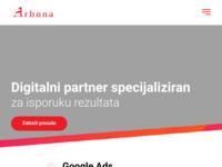 Slika naslovnice sjedišta: Izrada web stranica Arbona (http://www.arbona.hr)