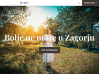 Frontpage screenshot for site: Hotel Trakošćan (http://www.hotel-trakoscan.hr)