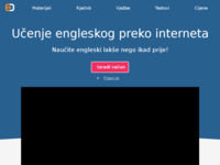 Frontpage screenshot for site: Engleski jezik online (http://english-online.hr)