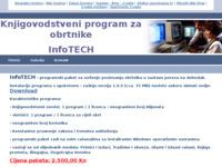 Frontpage screenshot for site: Knjigovodstveni program za obrtnike - InfoTECH (http://infotech.pondi.hr)