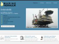 Frontpage screenshot for site: Marine hidraulik d.o.o. Rijeka (http://www.marine-hidraulik.hr)