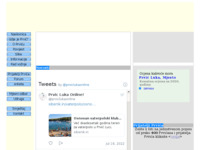 Frontpage screenshot for site: Prvić Luka (http://www.prvicluka.com/)
