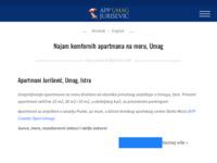 Frontpage screenshot for site: Apartmani Jurišević, Umag (http://www.app-jurisevic-umag.com)