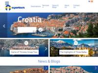 Frontpage screenshot for site: Turistička agencija Super Tours (http://www.supertours.eu)