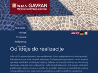 Frontpage screenshot for site: W.M.S. Gavran d.o.o. (http://www.gavran.com.hr/)