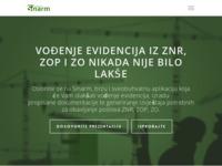 Frontpage screenshot for site: Sinarm software - vođenje evidencija iz zaštite na radu (http://www.sinarm.net)