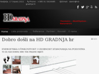 Frontpage screenshot for site: HD-gradnja (http://www.hd-gradnja.hr)