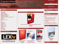 Frontpage screenshot for site: Zgombić i partneri - nakladništvo i informatika d.o.o. (http://www.knjizara.zgombic.hr)